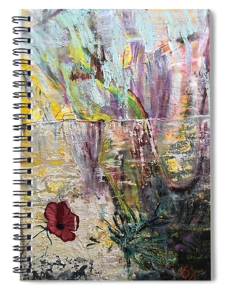 Flower Spiral Notebook featuring the painting Sunset on Wilmington  by Peggy Blood