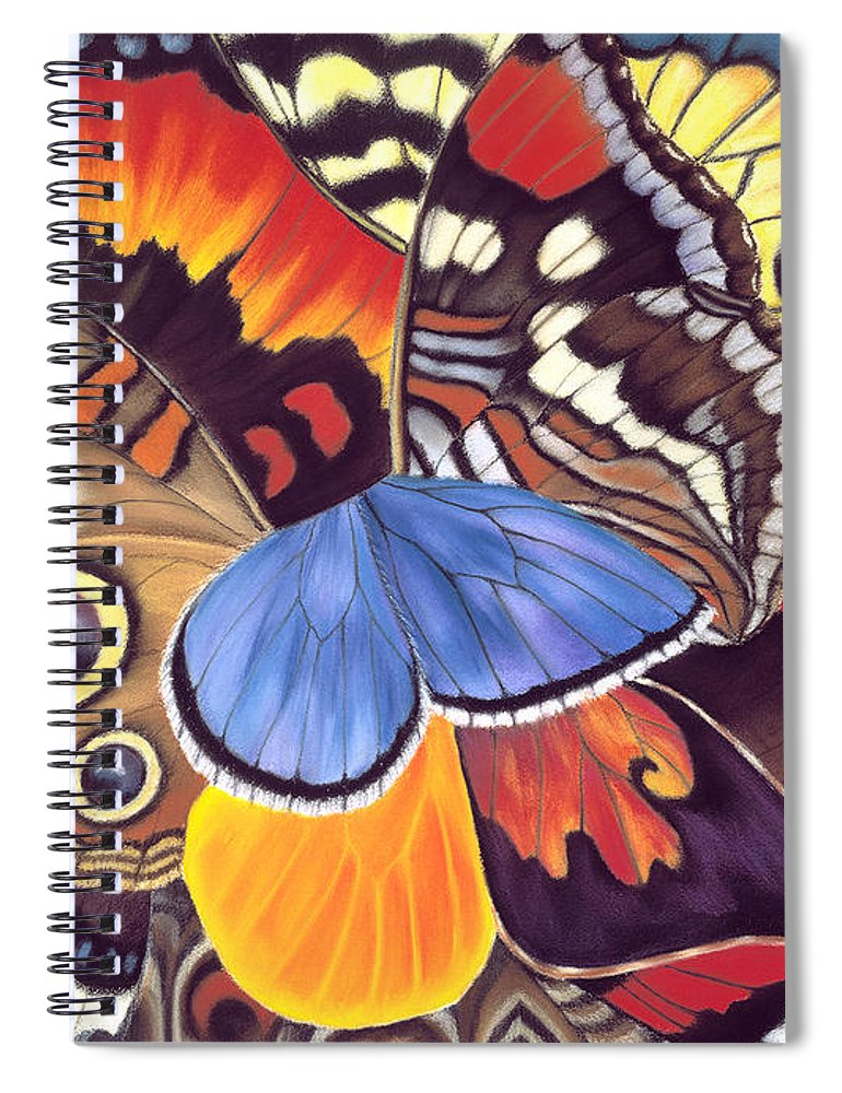Butterflies Spiral Notebook featuring the painting Wings Of California by Lucy Arnold