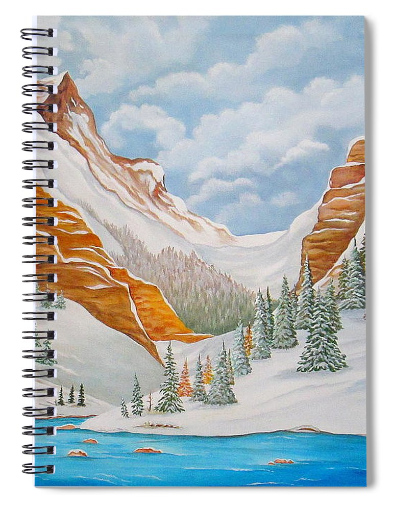 Arizona Spiral Notebook featuring the painting Winter on the Colorado River by Carol Sabo