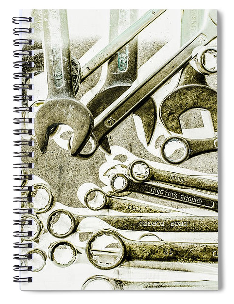 Workshop Spiral Notebook featuring the photograph Works In The Spanner by Jorgo Photography - Wall Art Gallery
