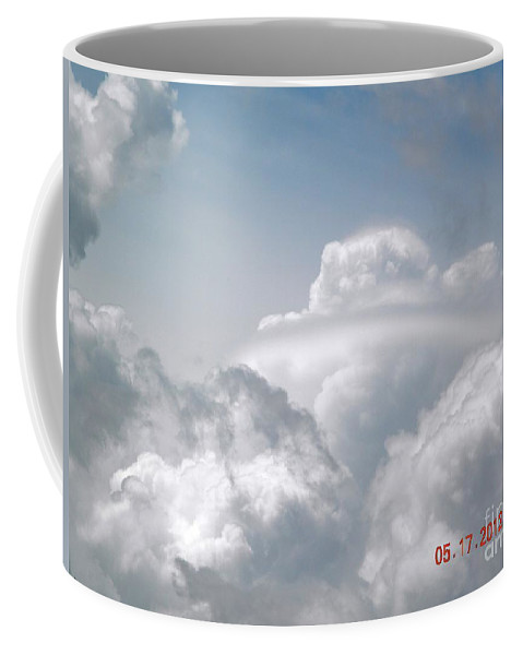 Cloud Coffee Mug featuring the digital art Beautiful Cloud Ring by Matthew Seufer