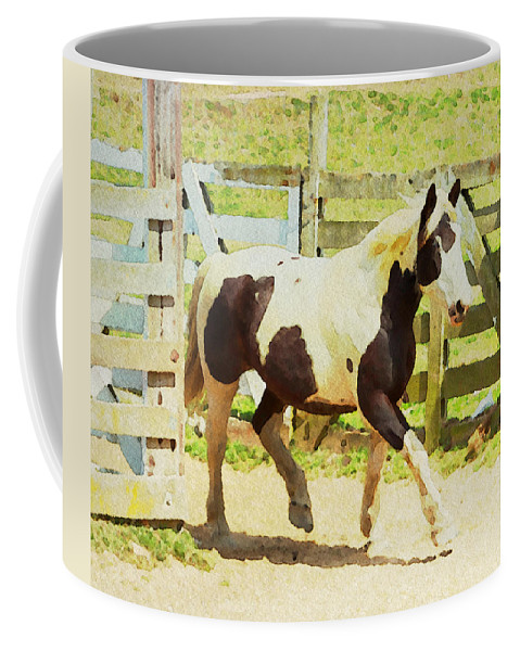 Horse Coffee Mug featuring the photograph Blue Eye by Alice Gipson