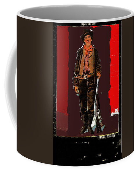 Bogus Drawing Photo Of Billy The Kid Ft. Sumner New Mexico C.1879-2013 Coffee Mug featuring the photograph Bogus Drawing Photo Of Billy The Kid Ft. Sumner New Mexico C.1879-2013 by David Lee Guss