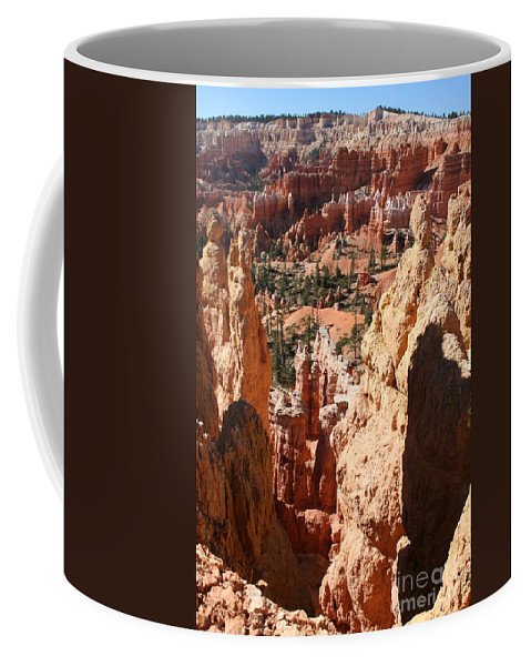 Canyon Coffee Mug featuring the photograph Bryce Canyon Overlook by Christiane Schulze Art And Photography