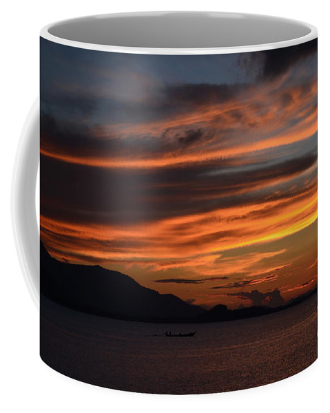Sun Coffee Mug featuring the photograph Burning Sky by Michelle Meenawong