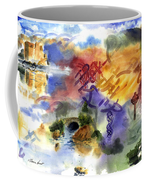 Celtic Landscape Celtic Knots Coffee Mug featuring the painting Celtic Knots by Maria Hunt