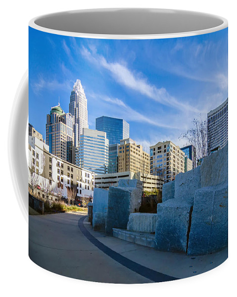 Romare Bearden Coffee Mug featuring the photograph Charlotte Nc View Of Charlotte Skyline by Alex Grichenko