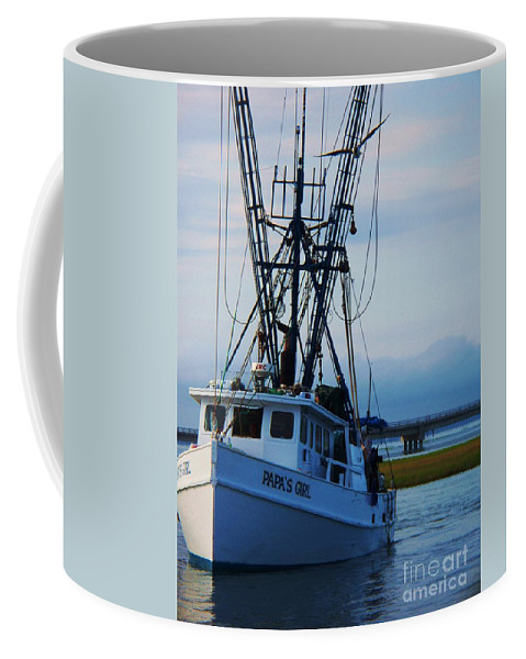 Chinocteque Coffee Mug featuring the photograph Chincoteague Trawler by Eric Schiabor