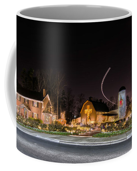 Billy Graham Parkway Coffee Mug featuring the photograph Christmas Celebration At Billy Graham by Alex Grichenko
