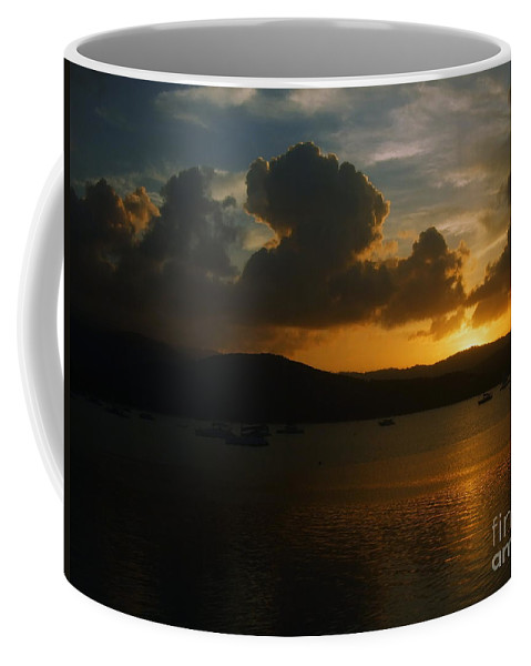 Nature Coffee Mug featuring the photograph Cloudy Sunset by Michelle Meenawong