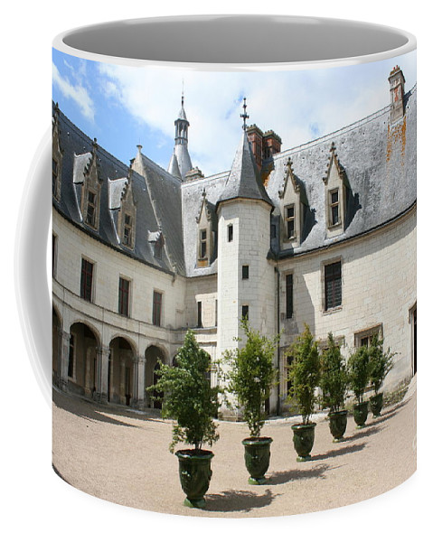 Palace Coffee Mug featuring the photograph Courtyard Chateau Chaumont by Christiane Schulze Art And Photography