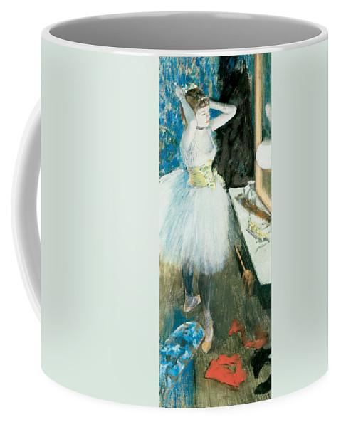 Edgar Degas Coffee Mug featuring the painting Dancer In Her Dressing Room by Edgar Degas