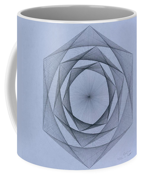 Jason Padgett Coffee Mug featuring the drawing  Energy Spiral by Jason Padgett