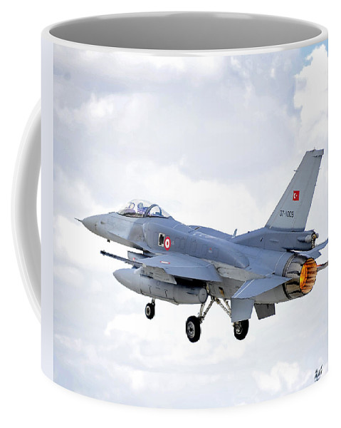 Aircraft Coffee Mug featuring the photograph F16 Fighting Falcon by Paul Fearn
