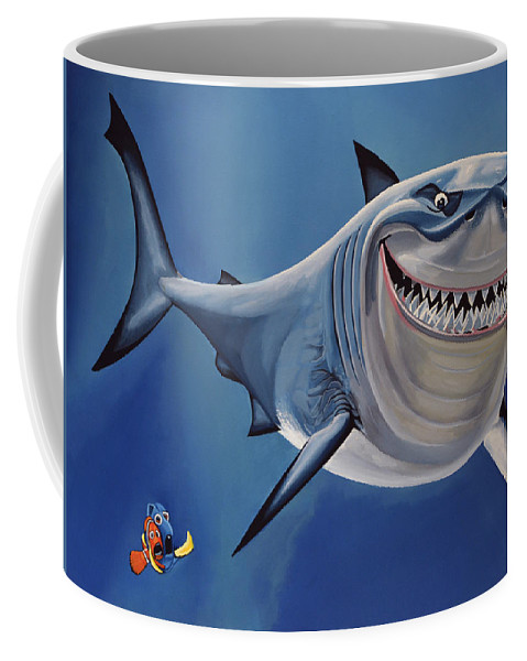 Finding Nemo Coffee Mug featuring the painting Finding Nemo Painting by Paul Meijering