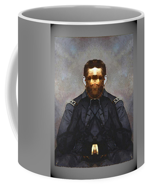 Coffee Mug featuring the digital art Gen. Ulysses S. Grant by Zac AlleyWalker Lowing