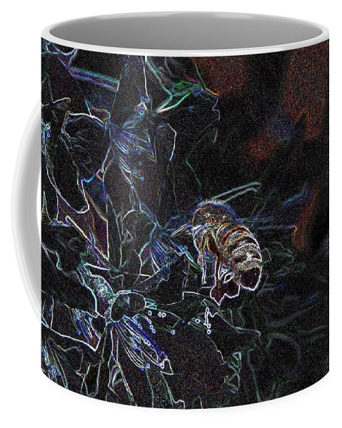 Coffee Mug featuring the photograph Glowing Bee by Jeff Swan