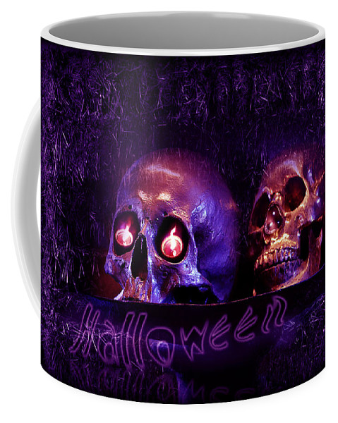 Night Of The Dead Coffee Mug featuring the digital art Halloween Party by Xueling Zou