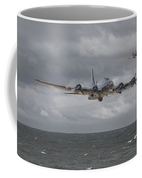 Aircraft Coffee Mug featuring the digital art Home The Hard Way by Pat Speirs