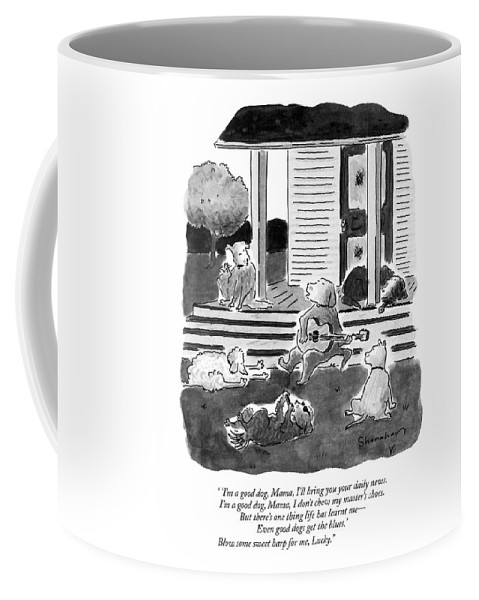 Dogs Coffee Mug featuring the drawing 'i'm A Good Dog by Danny Shanahan