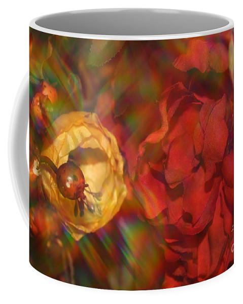 Impressionism Coffee Mug featuring the photograph Impressionistic Bouquet Of Red Flowers by Dora Sofia Caputo Photographic Design and Fine Art