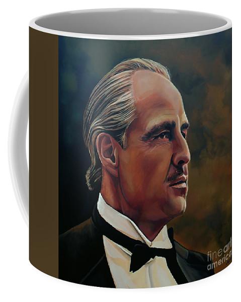 Marlon Brando Coffee Mug featuring the painting Marlon Brando by Paul Meijering