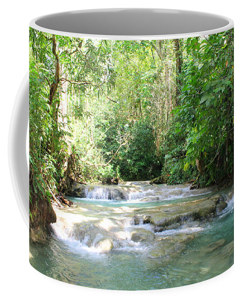Mayfield Falls Coffee Mug featuring the photograph Mayfield Falls Jamaica by Debbie Levene