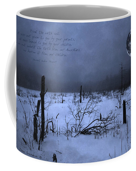 Moon Coffee Mug featuring the photograph Native American Full Moon Treat The Earth Well by John Stephens