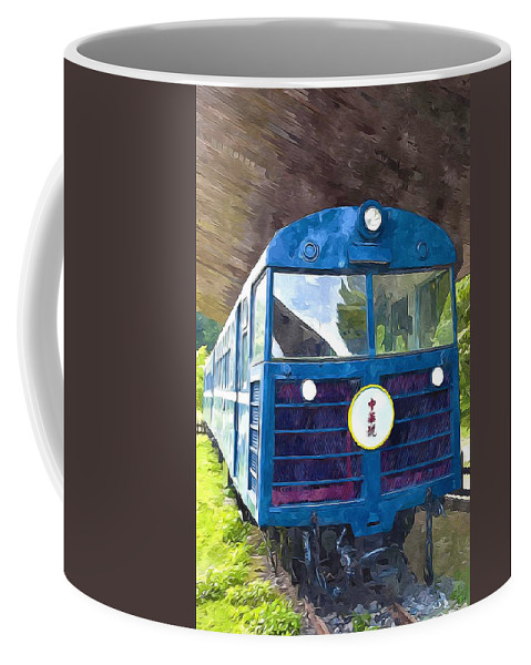 Coffee Mug featuring the painting Old Train by Jeelan Clark