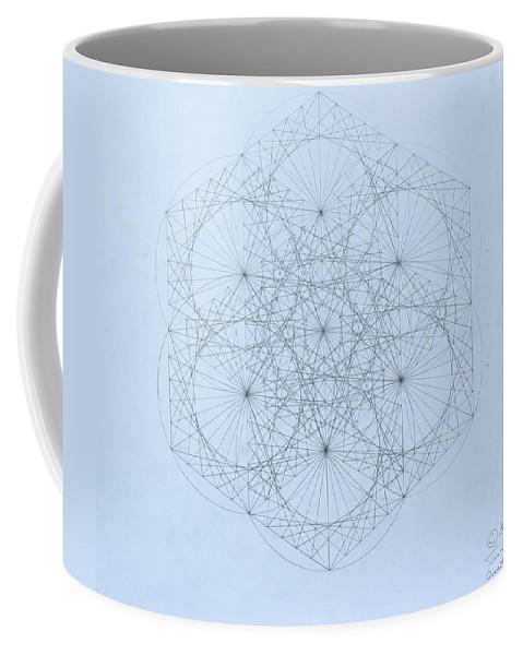 Jason Padgett Coffee Mug featuring the drawing Quantum Snowflake by Jason Padgett