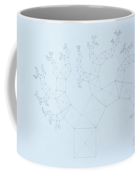 Fractal Tree Coffee Mug featuring the drawing Quantum Tree by Jason Padgett