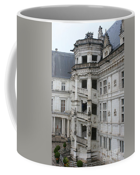 Stairs Coffee Mug featuring the photograph Spiral Staircase In The Francois I Wing - Chateau Blois by Christiane Schulze Art And Photography