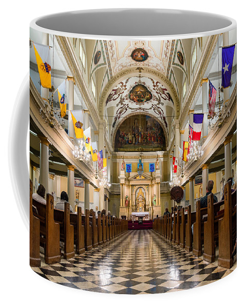 Nola Coffee Mug featuring the photograph St. Louis Cathedral by Steve Harrington