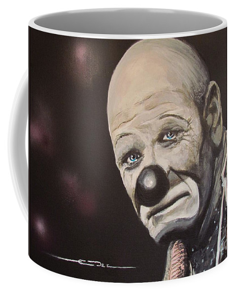 Joey The Clown Coffee Mug featuring the painting The Clown by Eric Dee