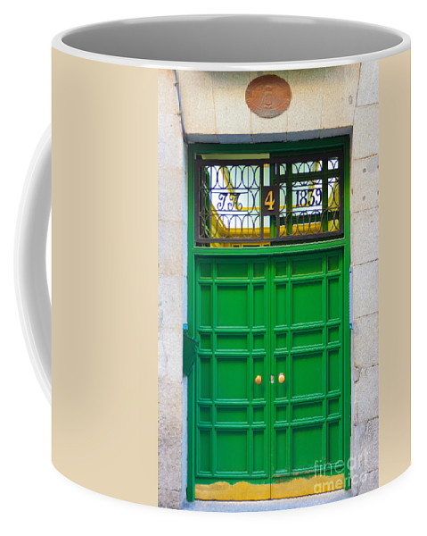 Architecture Coffee Mug featuring the photograph  The Doors Of Madrid Spain Xii by Thomas Marchessault