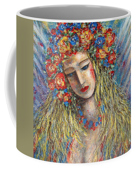 Painting Coffee Mug featuring the painting The Loving Angel by Natalie Holland