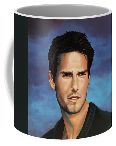 Tom Cruise Coffee Mug featuring the painting Tom Cruise by Paul Meijering
