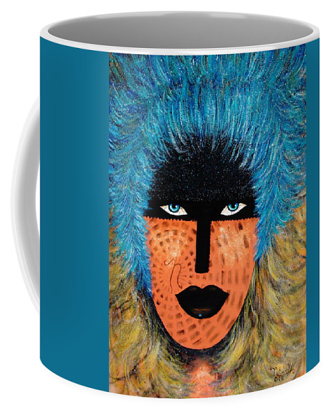 Woman Coffee Mug featuring the painting Viva Niva by Natalie Holland