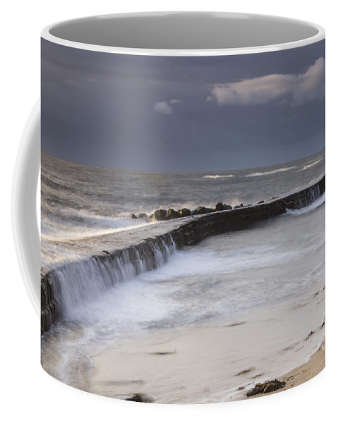 Cullercoats Coffee Mug featuring the photograph Waterwall by George Davidson