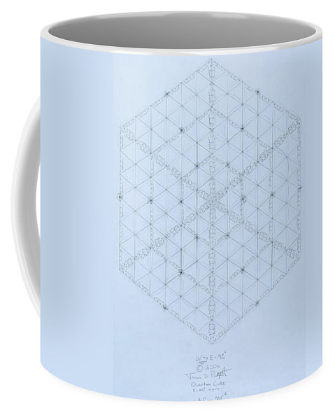 Energy Coffee Mug featuring the drawing Why Energy Equals Mass Times The Speed Of Light Squared by Jason Padgett
