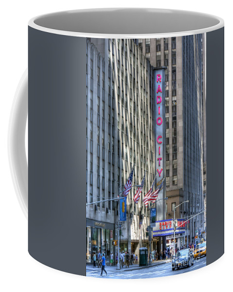 New Coffee Mug featuring the photograph 0010 Radio City Music Hall by Steve Sturgill