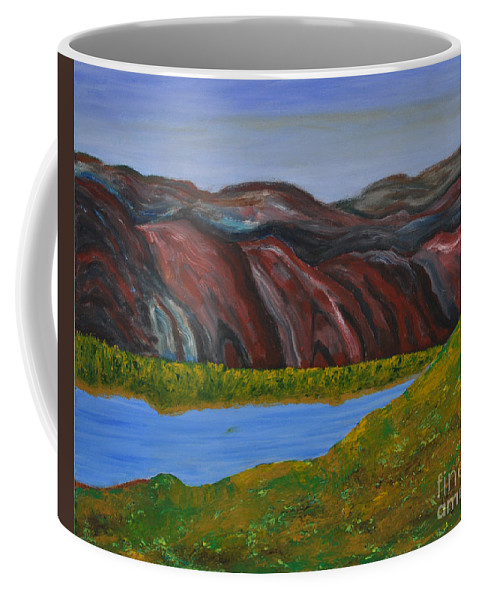 Impressionism Coffee Mug featuring the painting 009 Landscape by Chowdary V Arikatla
