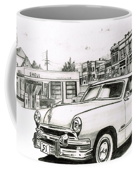 Coffee Mug featuring the drawing 038-old51 by Keith Spence