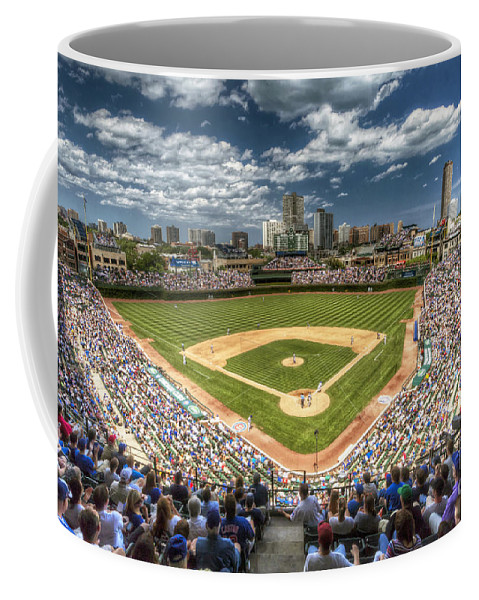 Chicago Coffee Mug featuring the photograph 0443 Wrigley Field Chicago by Steve Sturgill