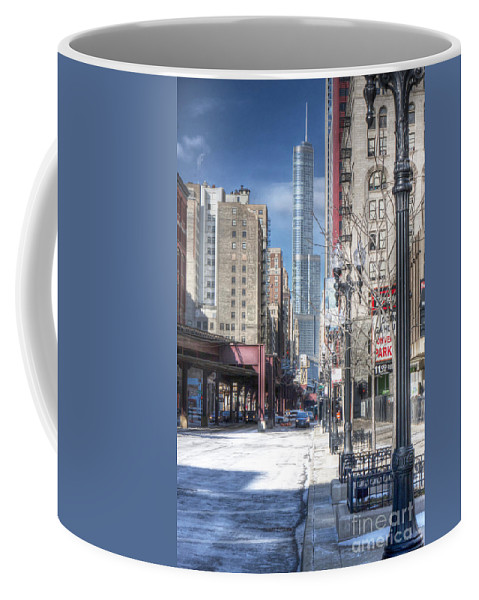 Architecture Coffee Mug featuring the photograph 0450 Wabash Avenue Chicago by Steve Sturgill