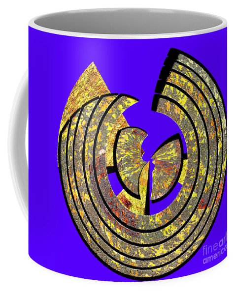 Abstract Coffee Mug featuring the digital art 0985 Abstract Thought by Chowdary V Arikatla