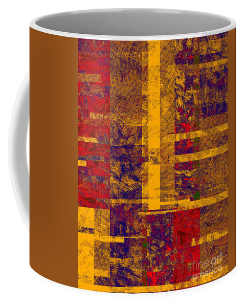 Abstract Coffee Mug featuring the digital art 0161 Abstract Thought by Chowdary V Arikatla