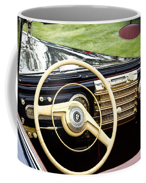 Antique Coffee Mug featuring the photograph 1942 Lincoln by Jack R Perry