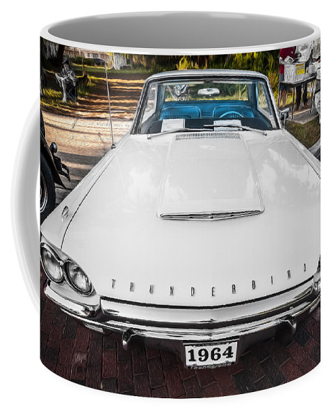 1964 Ford Thunderbird Coffee Mug featuring the photograph 1964 Ford Thunderbird Painted by Rich Franco