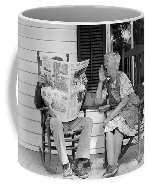 Photography Coffee Mug featuring the photograph 1970s Elderly Couple In Rocking Chairs by Vintage Images
